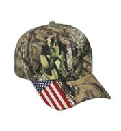 Outdoor Cap Camo Cap with Flag Accent