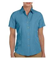 Harriton Ladies Barbados Textured Camp Shirt