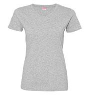 LAT Ladies Fine Jersey V-Neck T-Shirt