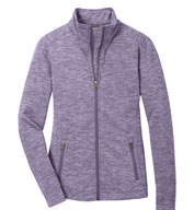 Port Authority® Ladies Digi Stripe Fleece Jacket