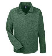 Devon & Jones Mens Bristol Quarter-Zip Sweater Fleece