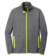 Sport-Tek® Mens Sport-Wick® Stretch Contrast Full-Zip Jacket