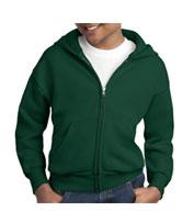Hanes Youth EcoSmart® Full-Zip Hooded Sweatshirt