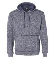 J America Adult Cosmic Poly Hooded Pullover Sweatshirt