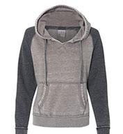 J America Ladies Zen Contrast Pullover Hood