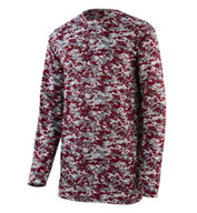 Augusta Adult Digi Camo Wicking Long Sleeve T-Shirt