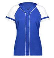 Augusta Ladies Winner Faux Full Button Jersey