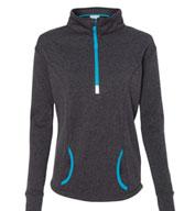 J. America Ladies Cosmic Fleece Quarter Zip Pullover