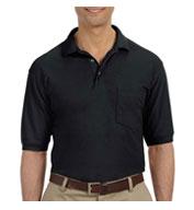 Harriton Mens 5.6 oz. Easy Blend™ Polo with Pocket