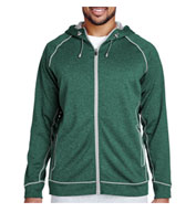 Team 365 Mens Excel Melange Performance Fleece Jacket