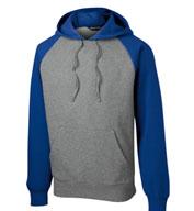 Sport-Tek® Adult Raglan Colorblock Pullover Hooded Sweatshirt