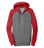 Sport-Tek® Adult Raglan Colorblock Full-Zip Hooded Jacket