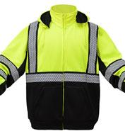 GSS Safety Class 3 Mens Onyx Teflon Sweatshirt w/Segment Tape