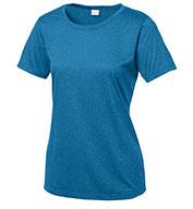 Sport-Tek® Ladies Heather Contender™ Scoop Neck Tee