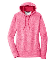 Sport-Tek® Ladies PosiCharge® Electric Heather Fleece Hooded Pullover
