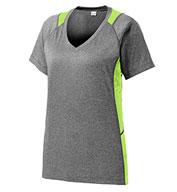 Sport-Tek® Ladies Heather Colorblock Contender™ Tee