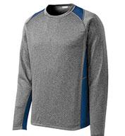 Sport-Tek® Adult Long Sleeve Heather Colorblock Contender™ Tee