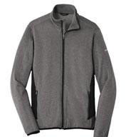 Eddie Bauer Mens Full-Zip Heather Stretch Fleece Jacket