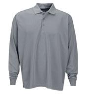 Vantage Mens Vansport Omega Long Sleeve Solid Mesh Tech Polo