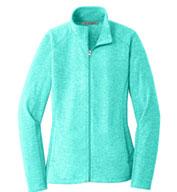 Port Authority® Ladies Heather Microfleece Full Zip Jacket