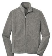 Port Authority® Mens Heather Microfleece Full-Zip Jacket