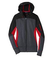 Sport-Tek® Ladies Tech Fleece Colorblock Hooded Jacket