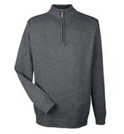 Devon & Jones Mens Manchester Fully-Fashioned 1/4-Zip Sweater