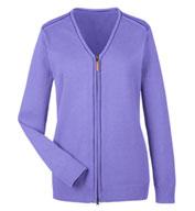 Devon & Jones Ladies Manchester Fully-Fashioned Full-Zip Sweater
