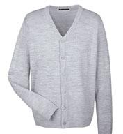 Harriton Mens Pilbloc™ V-Neck Cardigan Sweater