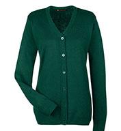 Harriton Ladies Pilbloc™ V-Neck Cardigan Sweater
