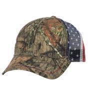 custom american flag mesh back camo cap