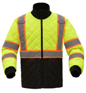 GSS Safety Mens Class 3 Two Tone Quilted Jacket