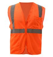 GSS Safety Adult Mesh Zip Safety Vest