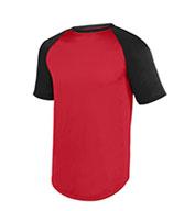 Augusta Youth Wicking Short Sleeve Baseball Jersey