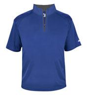 Badger Mens B-Core Short Sleeve 1/4 Zip Pullover