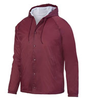 Augusta Adult Hooded Coaches Jacket