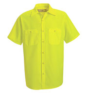 Red Kap Mens Enhanced Visibility Work Shirt