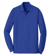 Port Authority® Mens EZCotton™ Long Sleeve Polo