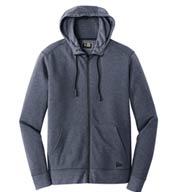 New Era® Mens Tri-Blend Fleece Full-Zip Hoodie
