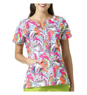 4fd5a0df1ea Autumn Leaves Notch Neck Print Ladies Top By Vera Bradley - Design Online  or Buy It Blank