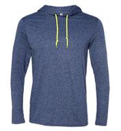 Anvil Adult Lightweight Hooded Long Sleeve T-Shirt