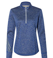 Adidas Womens Brushed Terry Heather 1 4 Zip Pullover - Design Online 9c535c9cd