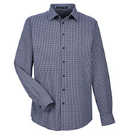 Devon & Jones Mens CrownLux Performance Tonal Mini Check Shirt