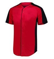 Augusta Mens Full Button Baseball Jersey