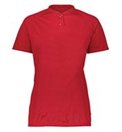 Augusta Ladies Attain Two-Button Jersey