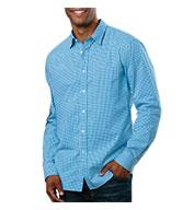 Blue Generation Mens Long-Sleeve Gingham Shirt