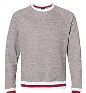 J. America Adult Peppered Fleece Crewneck Sweatshirt