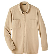 Harriton Adult StainBloc™ Pique Fleece Shirt-Jacket