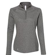 Adidas Womens Heathered Quarter Zip Pullover