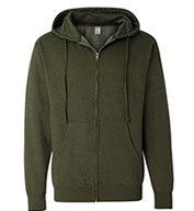 Independent Trading Co. Adult Midweight Full-Zip Sweatshirt